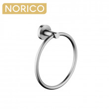 Norico Round Brushed Nickel Hand Towel Ring Wall Mounted