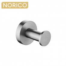 Norico Round Brushed Nickel Stainless Steel Robe Hook Wall Mounted