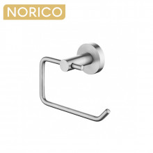 Norico Round Brushed Nickel Toilet Paper Roll Holder Stainless Steel