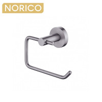 Norico Round Gunmetal Grey Toilet Paper Roll Holder Stainless Steel
