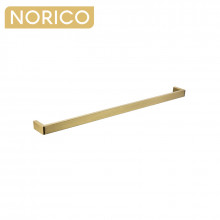Norico Cavallo Square Brushed Yellow Gold Single Towel Rail 800mm Stainless Steel 304