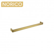 Norico Cavallo Square Brushed Yellow Gold Single Towel Rail 600mm Stainless Steel 304