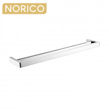 Norico Cavallo Square Chrome Double Towel Rail 800mm Stainless Steel 304