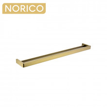 Norico Cavallo Square Brushed Yellow Gold Double Towel Rail 800mm Stainless Steel 304