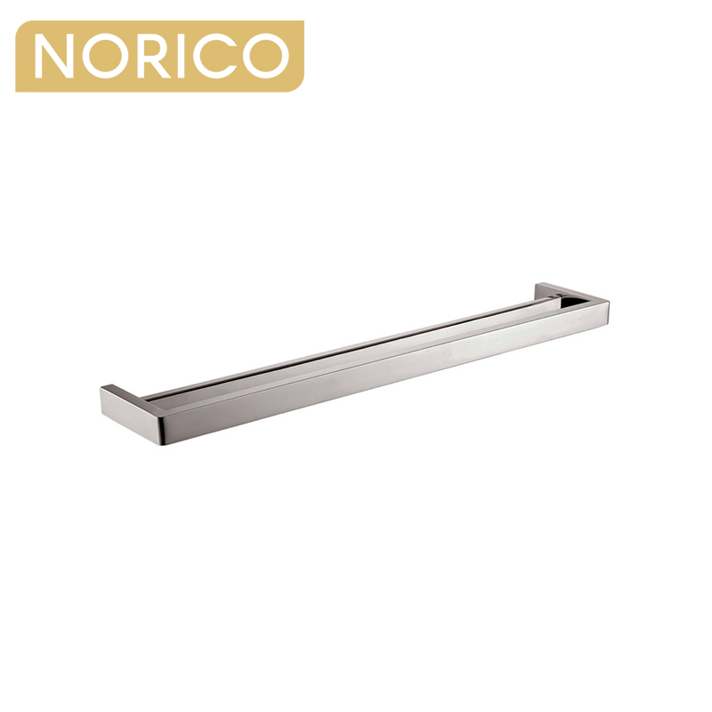 Cavallo Square Brushed Nickel Double Towel Rail 800mm Stainless Steel 304 AR72-8.05
