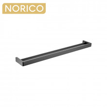 Norico Cavallo Square Gunmetal Grey Double Towel Rail 800mm Stainless Steel 304