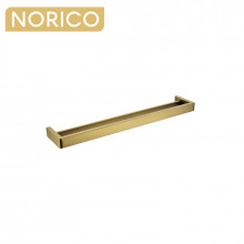 Norico Cavallo Square Brushed Yellow Gold Double Towel Rail 600mm Stainless Steel 304