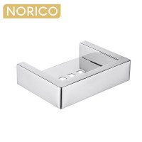 Norico Cavallo Chrome Soap Dish Holder Square Stainless Steel Wall Mounted