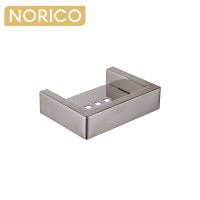 Norico Cavallo Brushed Nickel Soap Dish Holder Square Stainless Steel Wall Mounted