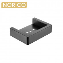 Norico Cavallo Gunmetal Grey Soap Dish Holder Square Stainless Steel Wall Mounted