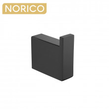 Norico Cavallo Square Matt Black Robe Hook Wall Mounted Stainless Steel