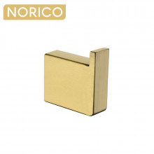 Norico Cavallo Square Brushed Yellow Gold Robe Hook Wall Mounted Stainless Steel