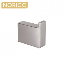 Norico Cavallo Square Brushed Nickel Robe Hook Wall Mounted Stainless Steel