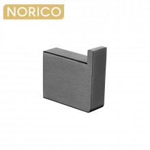 Norico Cavallo Square Gunmetal Grey Robe Hook Wall Mounted Stainless Steel
