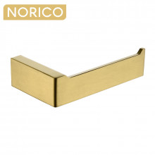 Norico Cavallo Square Brushed Yellow Gold Toilet Paper Holder Stainless Steel 304 Wall Mounted
