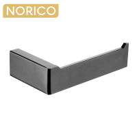 Norico Cavallo Square Gunmetal Grey Toilet Paper Holder Wall Mounted Stainless Steel 304