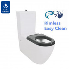 810x355x880mm Asta Special Care Rimless Disabled Toilet Suite Back To Wall S TRAP P TRAP Single Flap Care Seat
