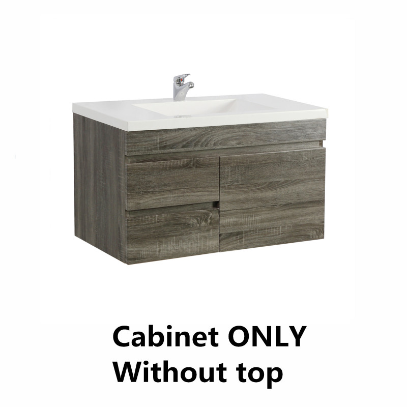 750mm Wall Hung Bathroom Vanity DARK Grey B74LW-DG