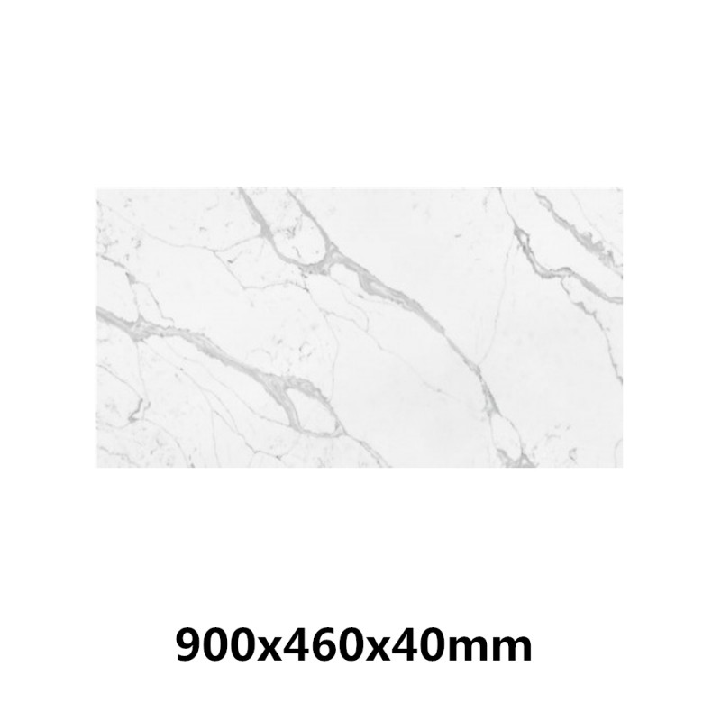 Stone top for above counter ceramic basins Calacatta 40mm thick