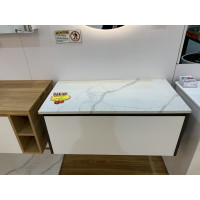 Stone top for above counter ceramic basins 600 750 900 1200 1500 1800mm x460x40mm Calacatta for Wall Hung Vanity
