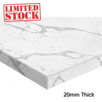 Stone top for above counter ceramic basins 600 750 900 1200 1500mm x460x20mm Calacatta