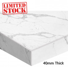 Stone top for above counter ceramic basins 750mm x460x40mm Calacatta for Bathroom Vanity