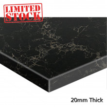 Stone top for above counter ceramic basins 600 750 900mm x460x20mm Marquina Vanilla Noir