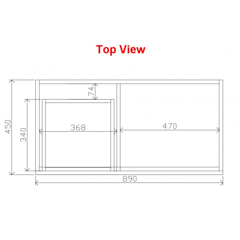 900mm Wall Hung Bathroom Vanity DARK Grey B94LW-DG