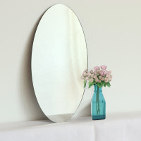 450x900x6mm Oval Bathroom Wall Mounted Mirror Pencil Edge Vertical or Horizontal Copper Free