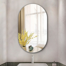 500x900x6mm Racetrack Shape Bathroom Wall Mounted Mirror Oblong Pencil Edge Vertical or Horizontal Copper Free