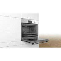 Bosch Serie 2 60cm Electric Built-In Oven 66 Litres Black Stainless Steel Finish