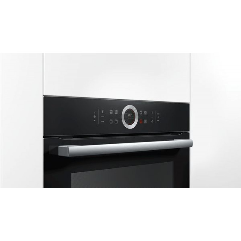 Bosch 600mm Serie 8 Electric Built-In Oven Black Glass 71 Litres HBG633BB1B