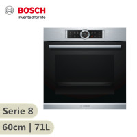 Bosch Serie 8 60cm Serie 8 Electric Built-In Oven 71 Litres Black & Stainless Steel Door HBG633BS1A
