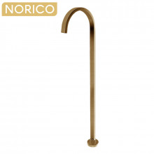 Norico Cavallo Square Brushed Yellow Gold Stainless Steel Freestanding Bath Spout Floor Mounted