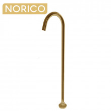 Norico Round Brushed Yellow Gold Stainless Steel Freestanding Bath Spout Floor Mounted