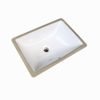 MACHO 460x330x180mm Rectangle Gloss White Undermount Ceramic Basin Under Counter Vanity Basin