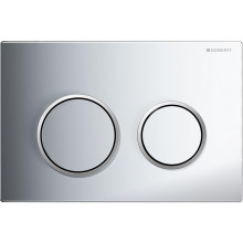 Geberit Toilet Cistern Push Plate Wall Buttons Chrome Surface Kappa21KH 115.240.KH.1