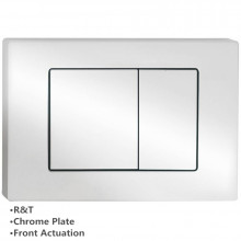 Toilet Cistern Push Plate Wall Buttons Square Chrome Surface