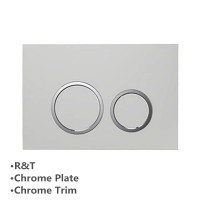 Toilet Cistern Round Push Plate Wall Buttons Square Chrome Surface G3004111