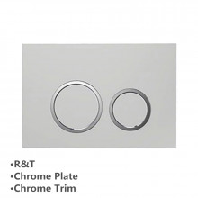 Toilet Cistern Round Push Plate Wall Buttons Square Chrome Surface G30034111