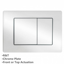 In-wall Toilet Cistern Push Plate Wall Buttons Square Chrome Surface