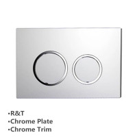 In-wall Toilet Cistern Round Push Plate Button Wall Buttons Square Chrome Surface