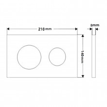 In-wall Toilet Cistern Round Push Plate Button Wall Buttons Square Black Surface