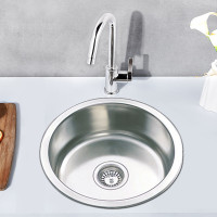 430mm Round Stainless Steel Single Bowl Kitchen Sink