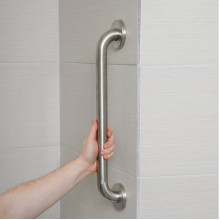 400mm Satin Stainless Steel Straight Bar for Handicap or Disabled toilet and bathtub
