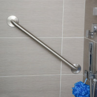 600mm Satin Stainless Steel Straight Bar for Handicap or Disabled toilet and bathtub