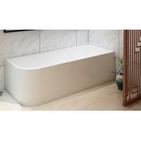 1500x730x510mm Bathtub Right Corner Back to Wall Acrylic Gloss White Bath tub