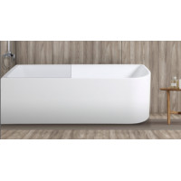 1700x730x510mm Bathtub Left Corner Back to Wall Acrylic Gloss White Bath tub