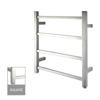 520x500x120mm Square Chrome Electric Heated Towel Rack 4 Bars