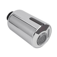 Chrome Touchless Motion Sensor Rechargeable Kitchen Mixer Pull Out Spray Head USB